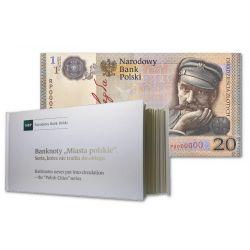 """Banknoty """"Miasta Polskie"""" + Banknot Niepodległościowy"""