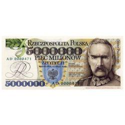 5000000 zł Józef Piłsudski 1995