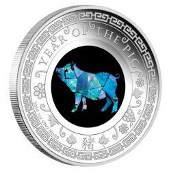 1$ Rok Świni - Australijski Opal