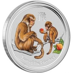 1$ Rok Małpy Kolor