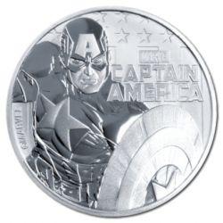 1$ Kapitan Ameryka, Marvel 1 oz Ag 999 2019