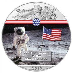 1$ Człowiek na Księżycu - Amerykański Orzeł