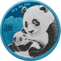 10 Yuan Chińska Panda Space Blue