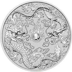 1$ The Two Dragons 1 oz Ag 999 2019 Australia