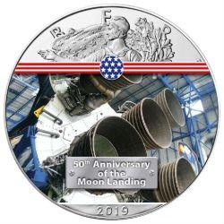1$ Silnik Rakietowy Apollo 11 - Amerykański Orzeł