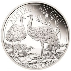 1$ Australijski Emu Proof 2019