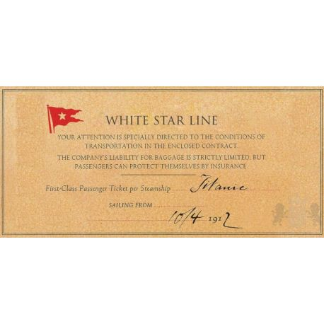 1$ Titanic, Bilet Rose