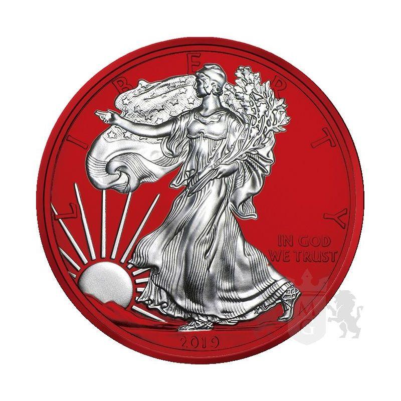 1$ Amerykański Orzeł Space Red