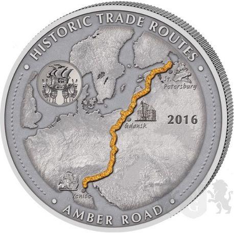 5000 Franków Szlak Bursztynowy - Historyczne Szlaki Handlowe