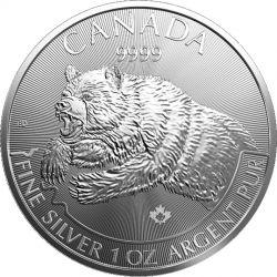 5$ Grizzli - Canadian Predators 1 oz Ag 9999 2019