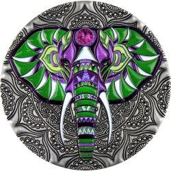 5$ Elephant - Mandala