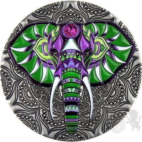 5$ Słoń - Mandala