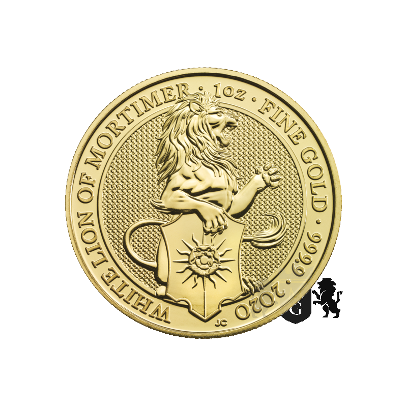 100£ The White Lion of Mortimer - Queen's Beast