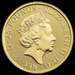 25£  Biały Lew Mortimerów - Bestie Królowej 1/4 oz Au
