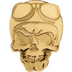 1$ Golden Biker Skull - Skulls