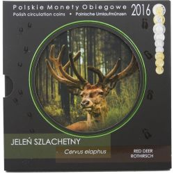 Red deer, Set of Circulation Coins 2016