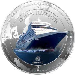 2$ Queen Elizabeth, Cunard...