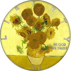 1$ Sunflowers Van Gogh