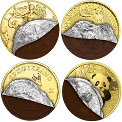 Chocolate Coins, Set 4 coins