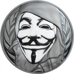 5$ Anonymous, Guy Fawkes Mask - Revolutionary Masks