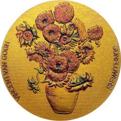 10 Cedis Sunflowers Van Gogh