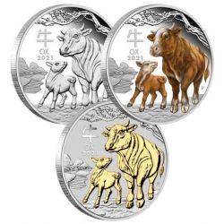 Year of the Ox 3 Coins Set
