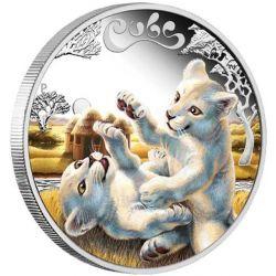 50¢ Biały Lew - Cubs, Młode Zwierzęta