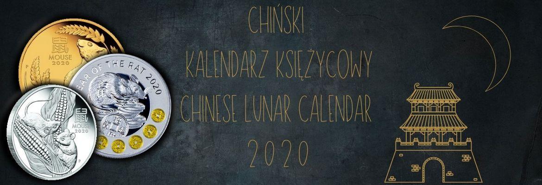 Chiński Kalendarz Księżycowy 2020 seria monet