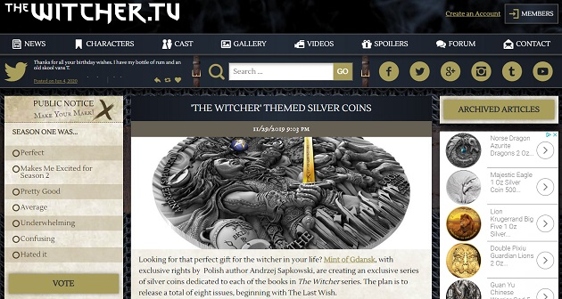 TheWitcher.tv with the Witcher Coin