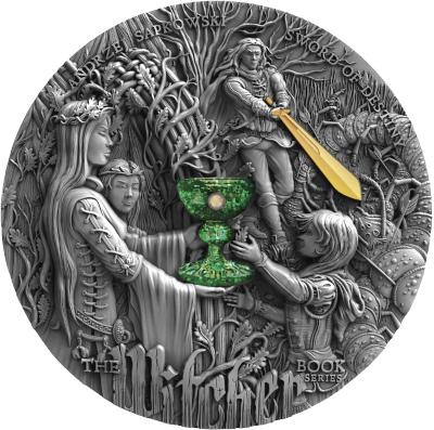5$ Sword of Destiny - The Witcher 2 oz Ag 999 2020