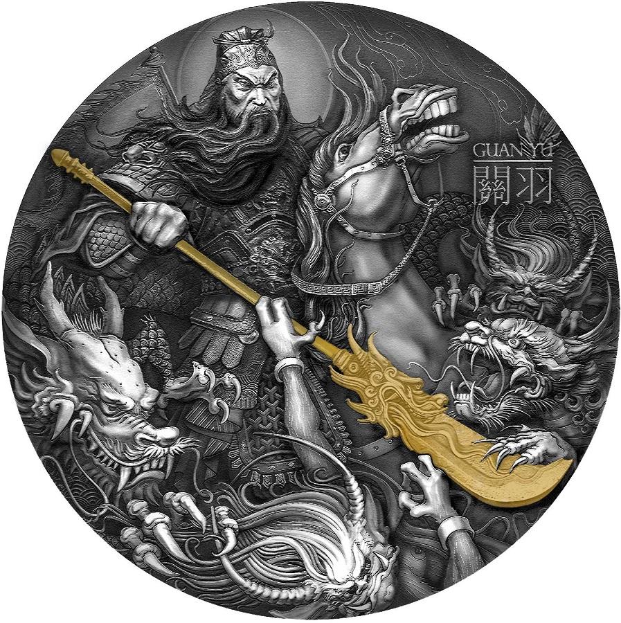 Guan Yu - Chiński Bohaterowie, moneta kolekcjonerska Mennicy Gdańskiej