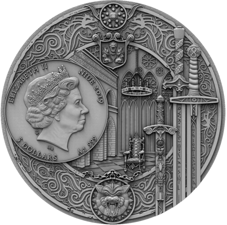 Coin with The Witcher, Mint of Gdansk