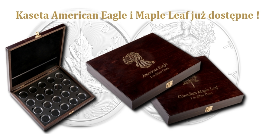 Kasety American Eagle i Maple Leaf