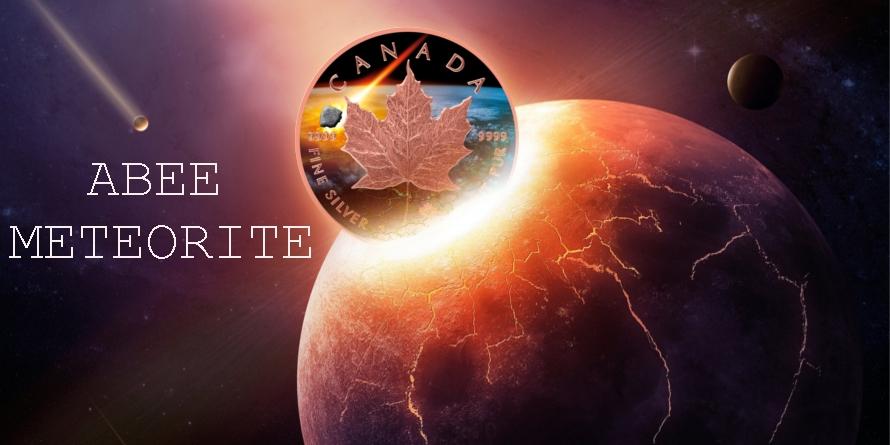 5$ Abee Meteorite Canada Maple Leaf - Atlas Meteorytów