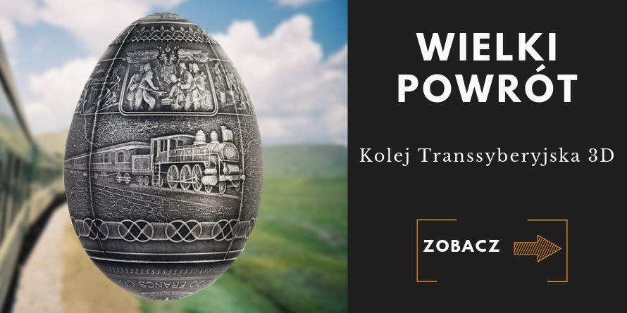5000 Franków Jajo Kolej Transsyberyjska 3D