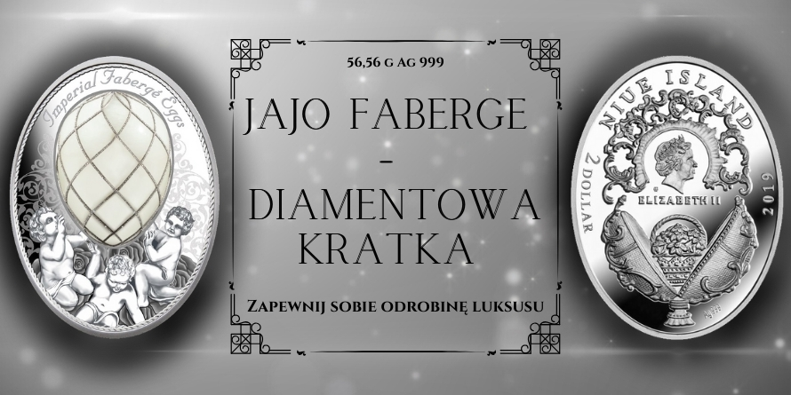 2$ JAJO Z DIAMENTOWĄ KRATKĄ - FABERGE