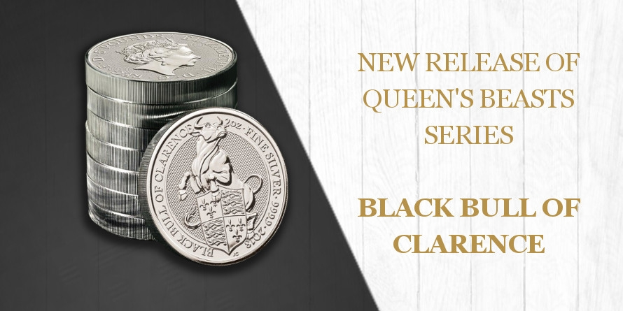 5£ Black Bull of Clarence - Queen's Beasts