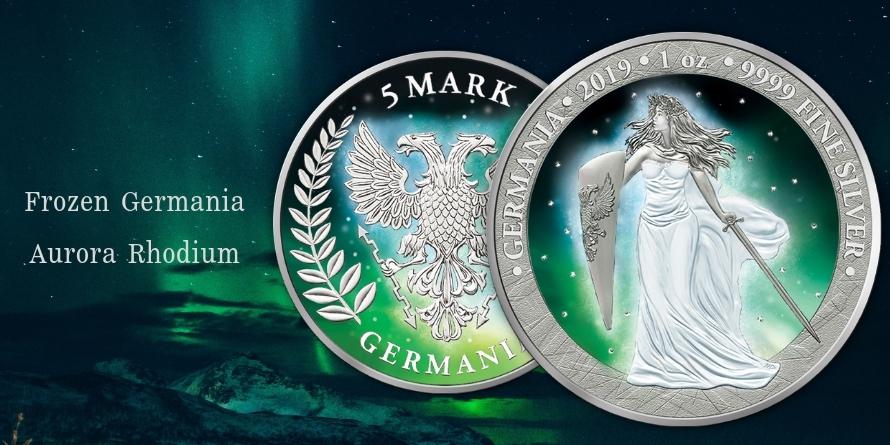 5 Mark Frozen Germania Aurora Rhodium