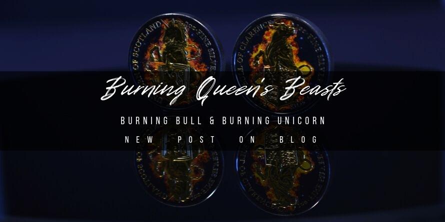 Burning Queen's Beasts: Burning Bull and Burning Unicorn