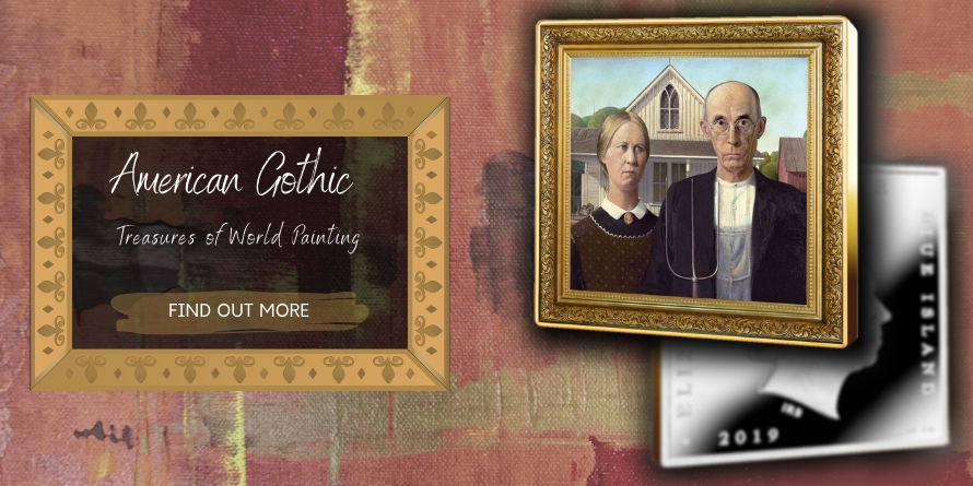 1$ AMERICAN GOTHIC - TREASURES OF WORLD PAINTING