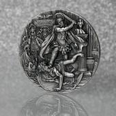 """Trzecia monetaz serii oksydowanych, dwuuncjowych monet""""Bogowie Rzymscy"""". Pierwsza z nich, Jowisz, wyprzedała się w 100%.  Third coin from a series of oxidized two-ounce coins """"Roman Gods"""". The first one, Jupiter, has sold out 100%.  #romangods #mars #silvercoin #coincolletion #coin #mintofgdansk"""